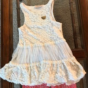 Juicy Couture Matching Sets - Juicy couture girls size 5 lace top outfit